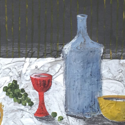 Still Life with Silver Tablecloth