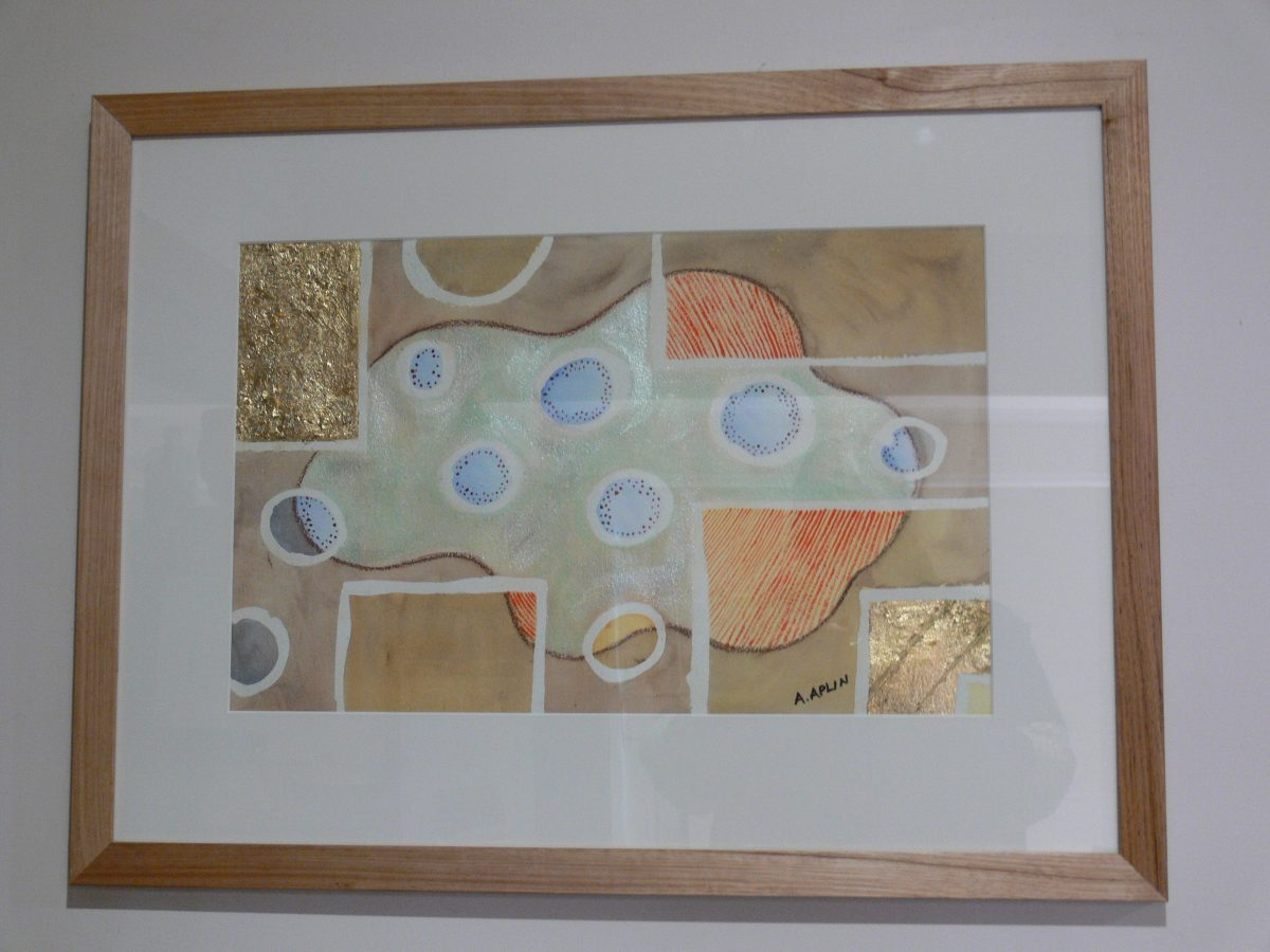 1/2 Archers watercolour paper 'floating' in natural timber frame. Professionally framed by Damian Goodman Custom Framing.